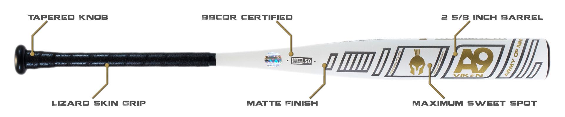 A9BBCOR-3 BBCOR Certifies Composite Bat